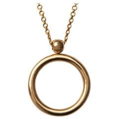 Ouroboros Gold Circle 'Infinity' Pendant Necklace
