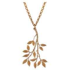Ouroboros 18. Karat Gold Leaf Pendant