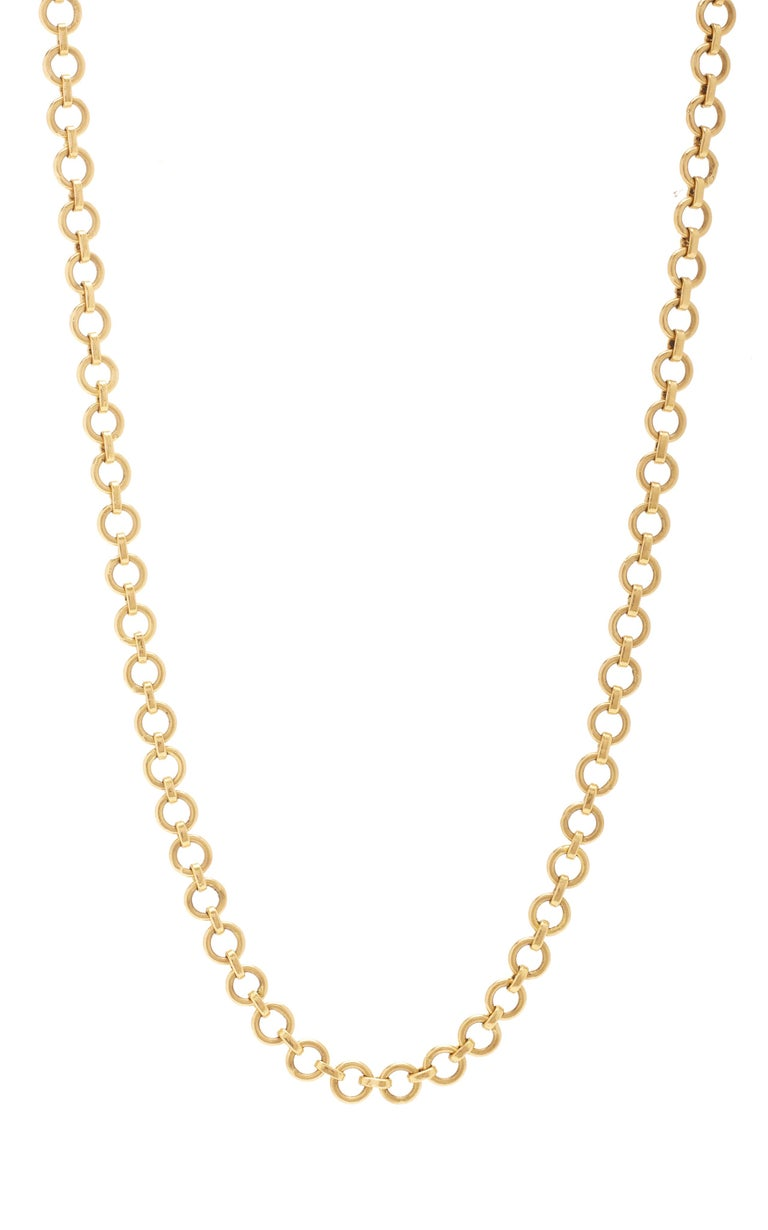 Ouroboros handmade gold, 18 karat gold chain that is designed to look like snakeskin. The standard length is 36