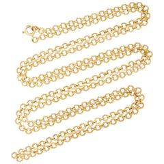 Ouroboros Handmade 18 Karat Gold Chain
