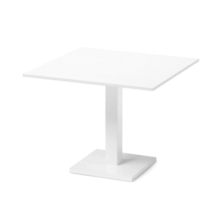 Italian In Stock in Los Angeles, White Lacquered Aluminium Outdoor Orione Table For Sale