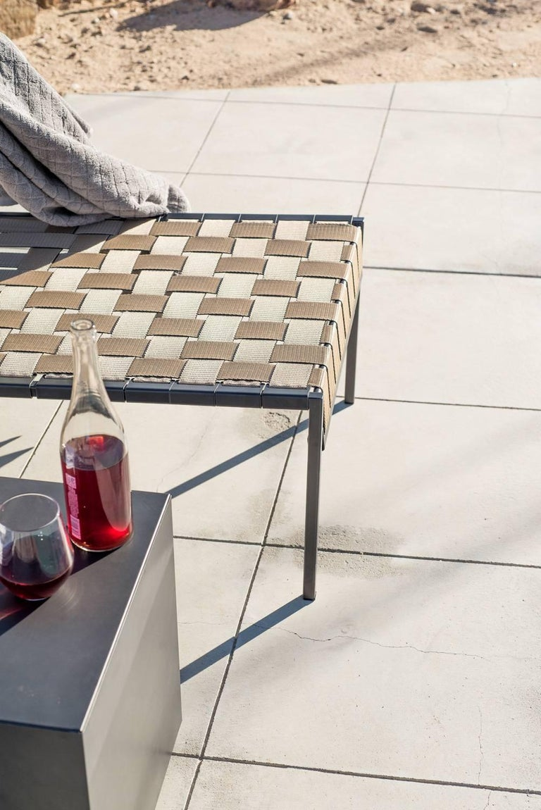 Outdoor Charcoal Block Table In New Condition For Sale In Los Angeles, CA