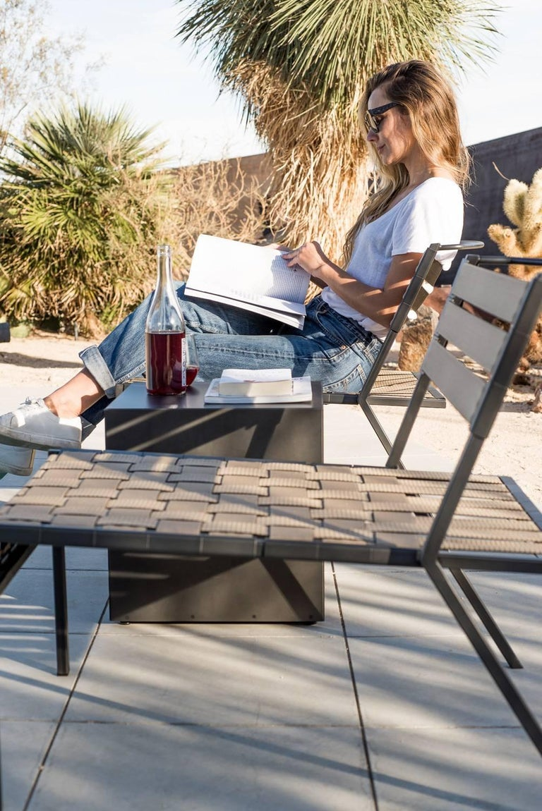 Outdoor Charcoal Block Table For Sale 1