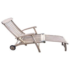 Outdoor Commodore Steamer Chair Chaise Longue by Barlow Tyrie