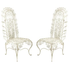Outdoor Continental Spanish Iron Scroll Chairs