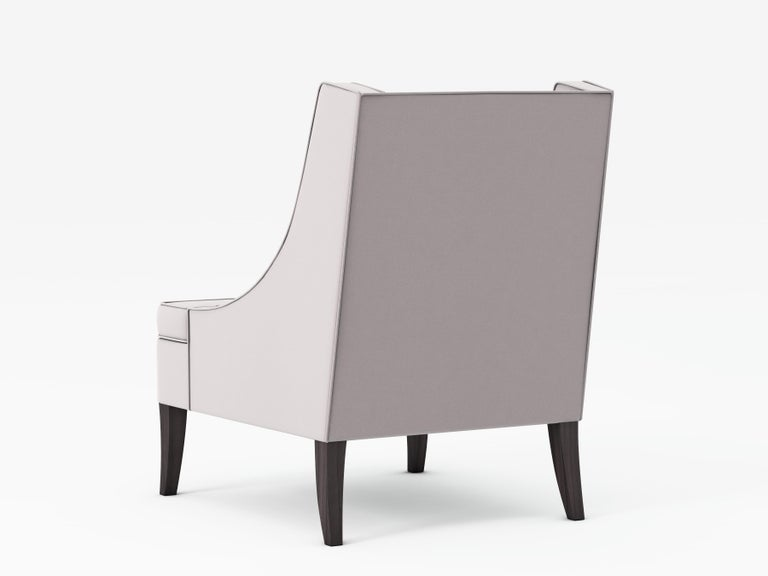 Modern Outdoor Dembies Short Back Armchair by Coco Wolf For Sale