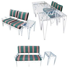 Outdoor Dining, Lounge chair, Settee's Set by Walter Lamb for Pacific Iron