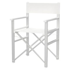 Folding White Aluminium Outdoor Director's Chair, Made in Italy