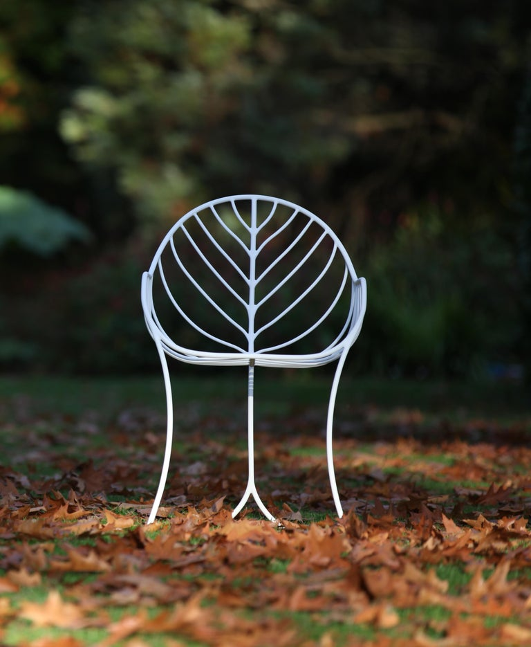 Folia Armchair designed by Kris Van Puyvelde for Royal Botania is a true beautiful design based on nature. Design inspired by the veins of a Leaf. This Outdoor dining Armchair comes in 6 different powered coated finishes and includes a seat