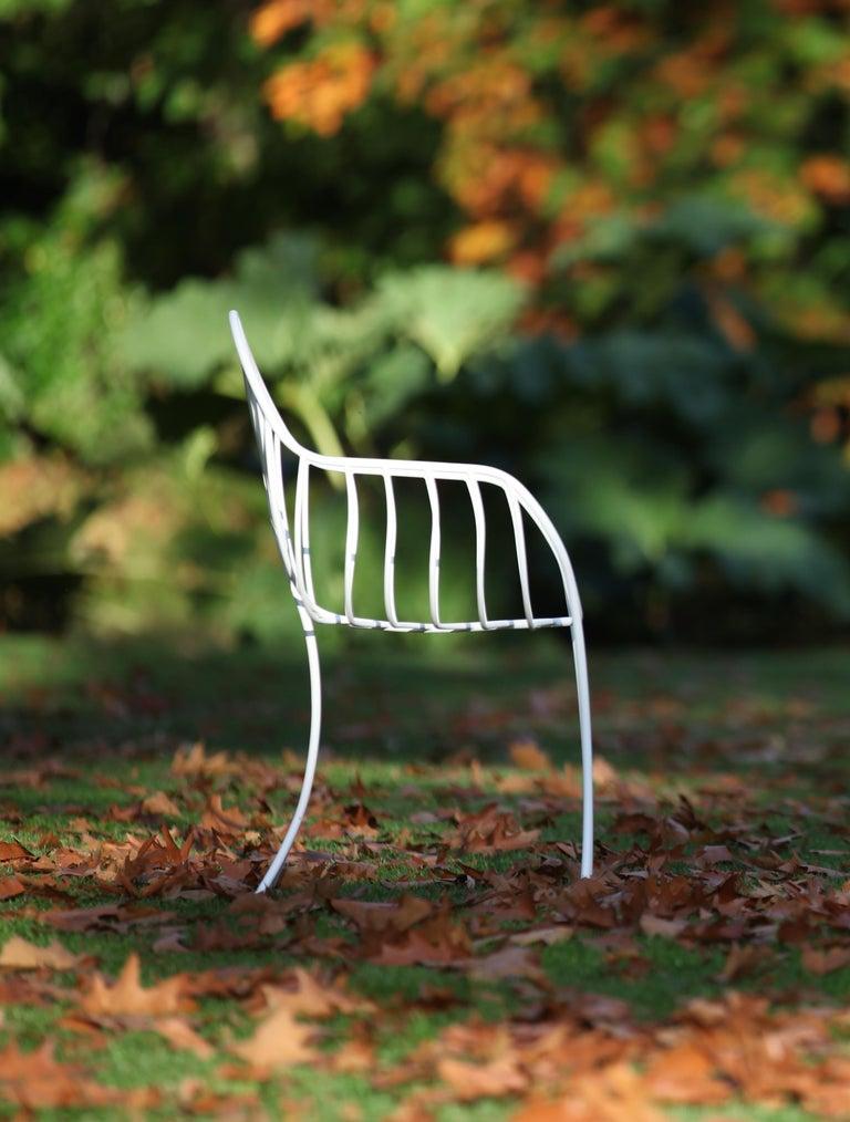 Organic Modern Outdoor Folia Armchair from Royal Botania designed by Kris Van Puyvelde For Sale