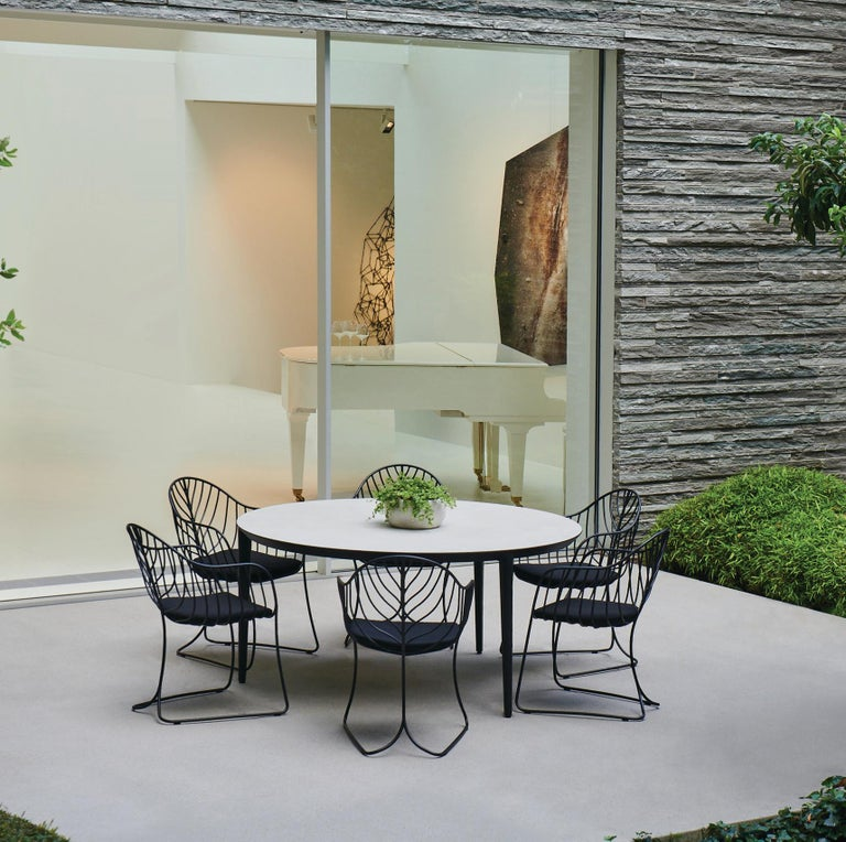 Belgian Outdoor Folia Armchair from Royal Botania designed by Kris Van Puyvelde For Sale