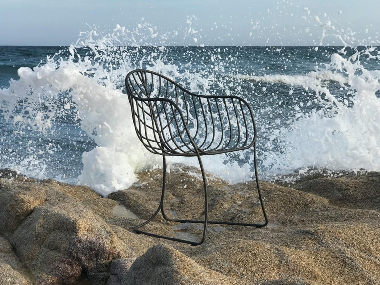 Powder-Coated Outdoor Folia Armchair from Royal Botania designed by Kris Van Puyvelde For Sale