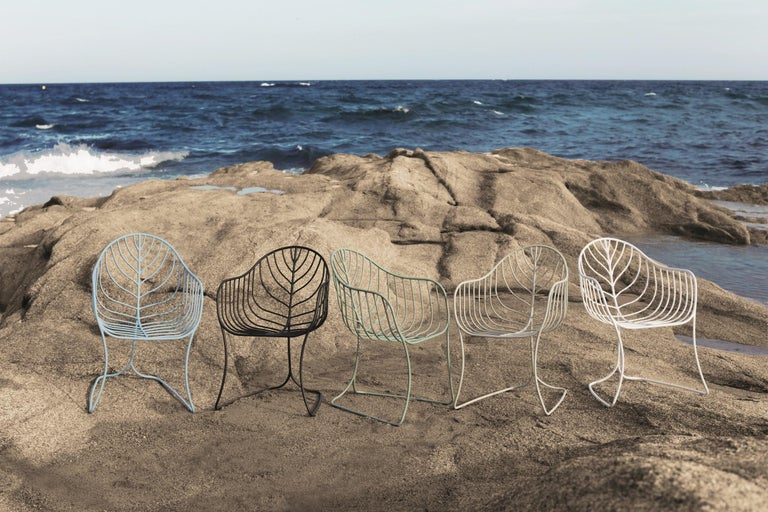 Outdoor Folia Armchair from Royal Botania designed by Kris Van Puyvelde In New Condition For Sale In Boston, MA