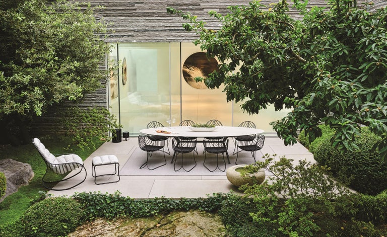 Contemporary Outdoor Folia Armchair from Royal Botania designed by Kris Van Puyvelde For Sale