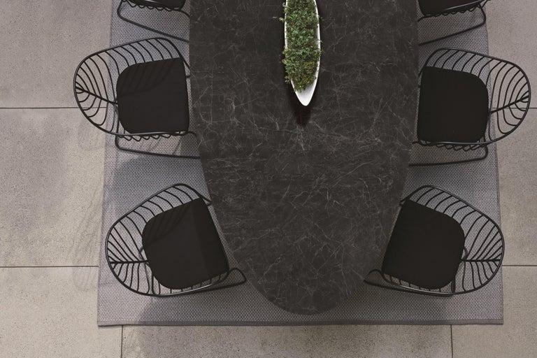 Aluminum Outdoor Folia Armchair from Royal Botania designed by Kris Van Puyvelde For Sale