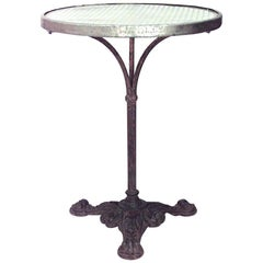Outdoor French Iron and Crystal Café Table