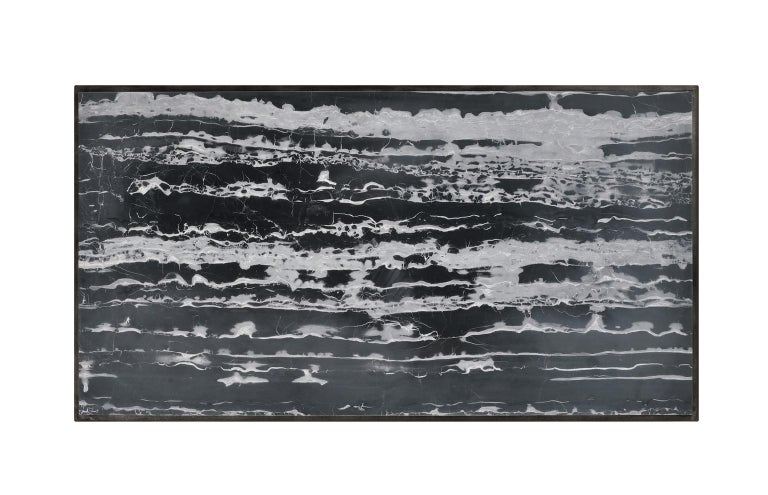 Rectangular Coffee Table in Black Marble for Indoor or Outdoors In New Condition For Sale In New York, NY