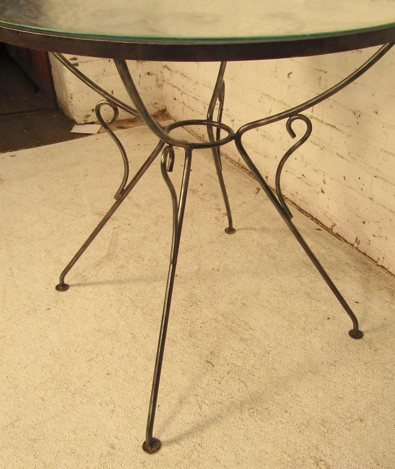 Industrial Outdoor Iron Table For Sale