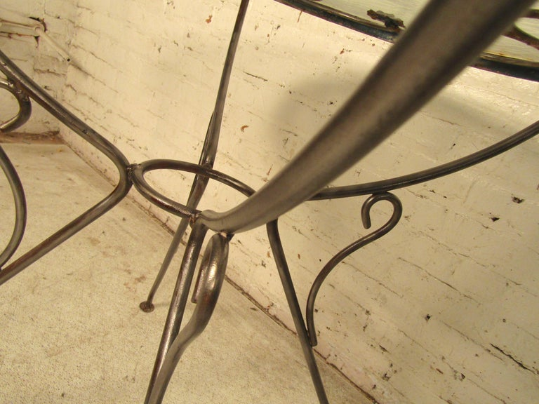 Outdoor Iron Table In Good Condition For Sale In Brooklyn, NY