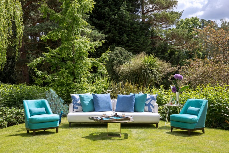 Modern Outdoor Justiniano Armchair by Coco Wolf For Sale
