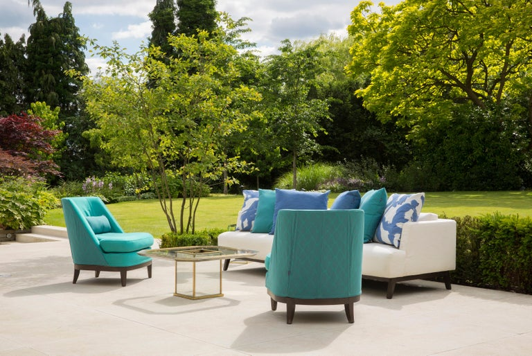 English Outdoor Justiniano Armchair by Coco Wolf For Sale