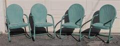 Outdoor  Lawn/ Beach Metal  Chairs in Sea Foam Green - 4