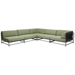 Outdoor Leaf & Charcoal Sectional
