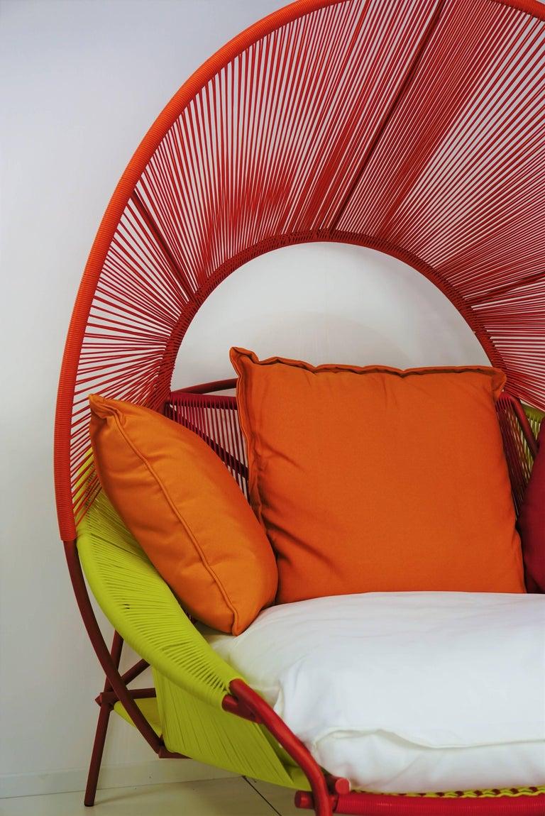 Mid-Century Modern Outdoor Lounge Armchair