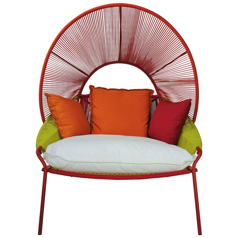 "Outdoor Lounge Armchair ""Traveler"" Design by Stephen Burks European Edition For Sale"