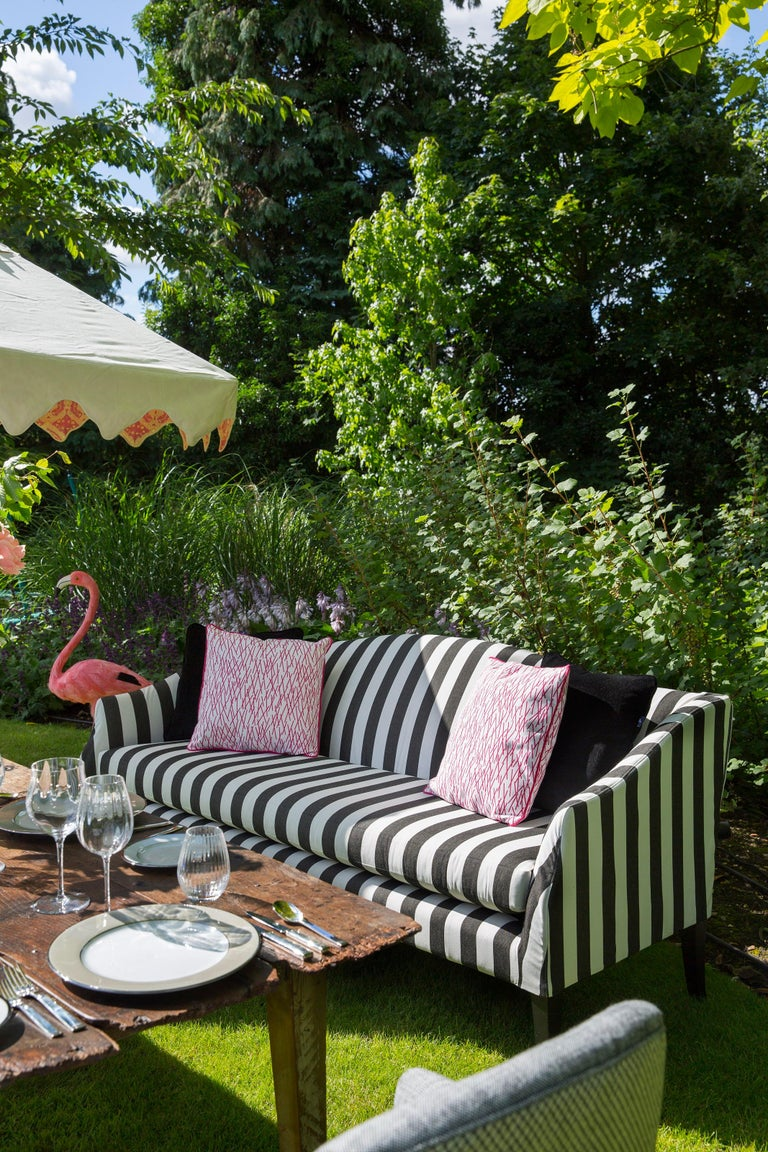 Contemporary Outdoor Mamelle Sofa by Coco Wolf For Sale