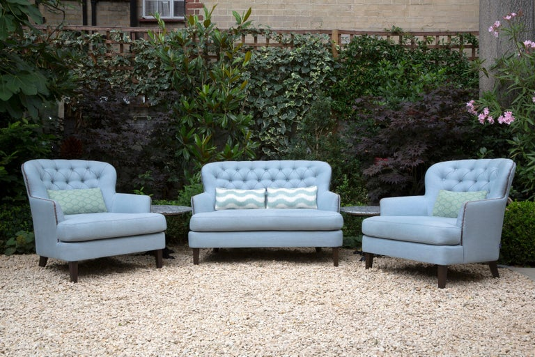 English Outdoor Masseto Armchair by Coco Wolf For Sale
