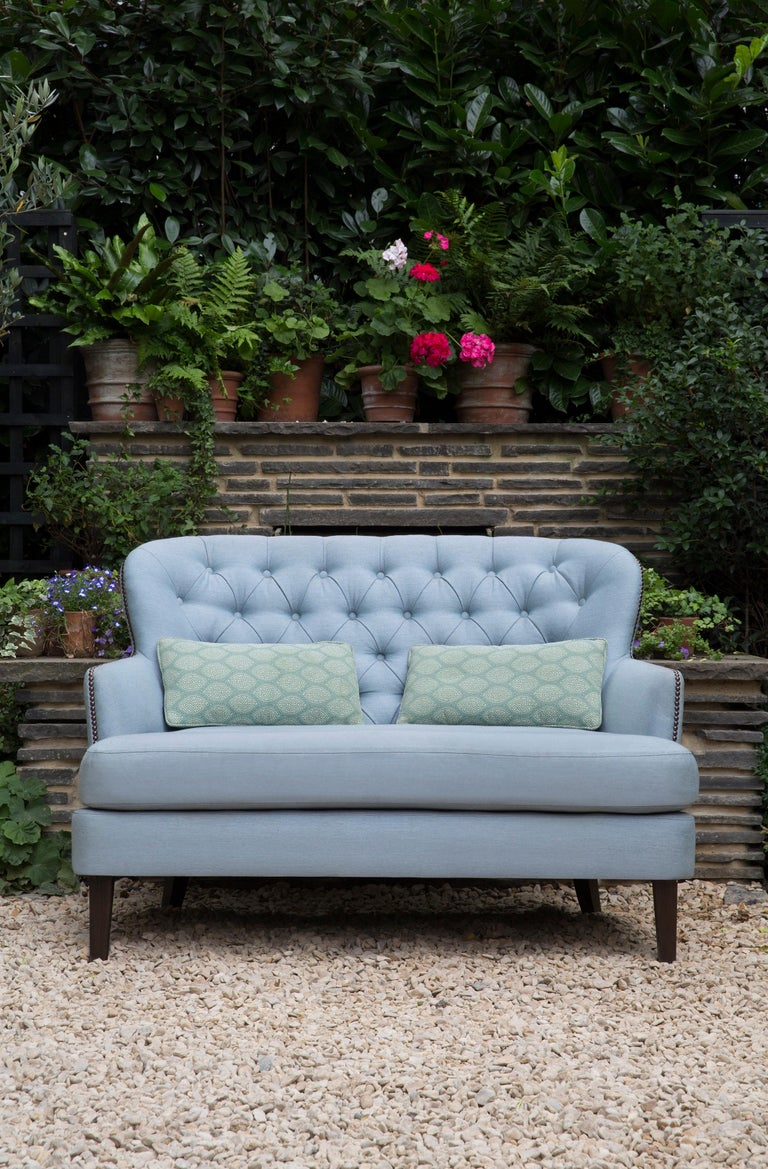 Modern Outdoor Masseto Loveseat by Coco Wolf For Sale