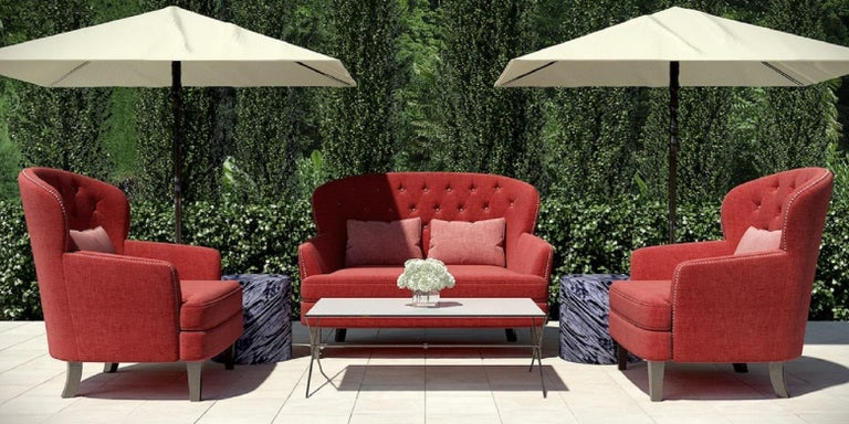 Outdoor Masseto Loveseat by Coco Wolf In New Condition For Sale In Boston, MA