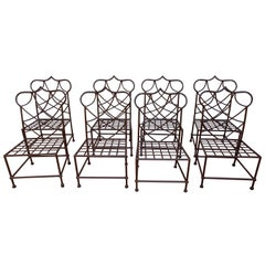 Outdoor Metal Chairs set of Eight  in Mario Papperzini Style