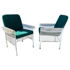 Outdoor Metal Lounge Chairs, Attrib to Maurizio Tempestini for Salterini