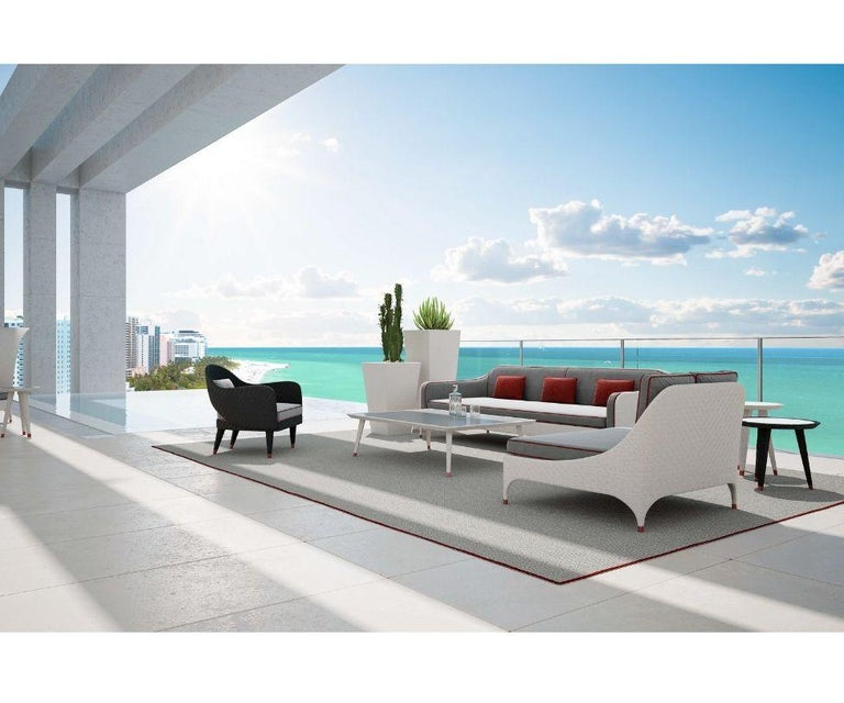 Modern Outdoor Occasional Armchair For Sale