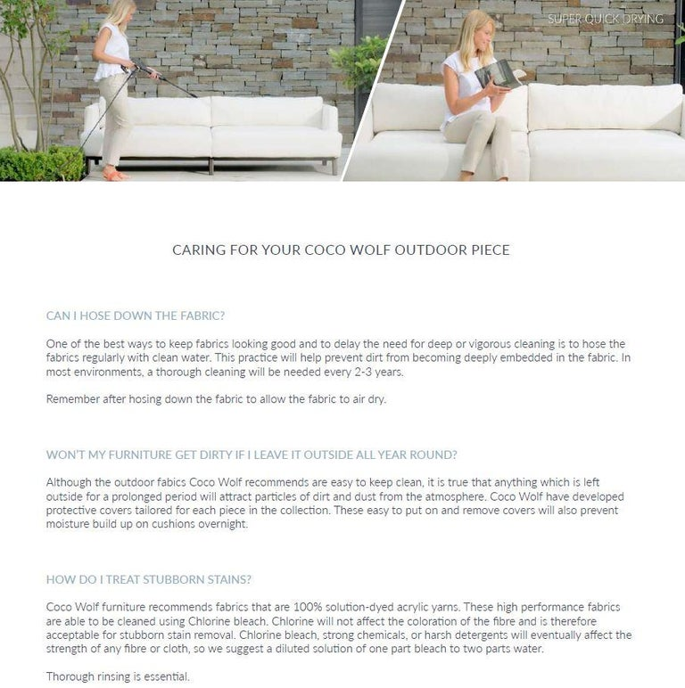 Outdoor Percalo Sofa by Coco Wolf For Sale 7