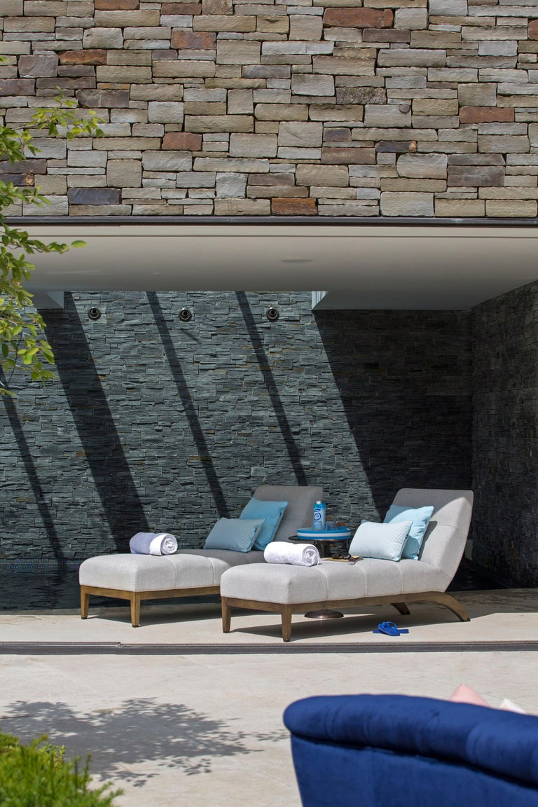 Modern Outdoor Rosemount Lounger by Coco Wolf For Sale