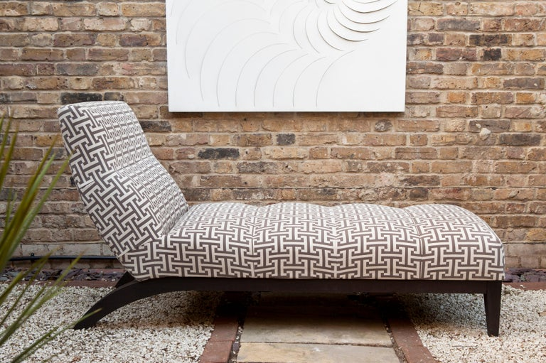 English Outdoor Rosemount Lounger by Coco Wolf For Sale