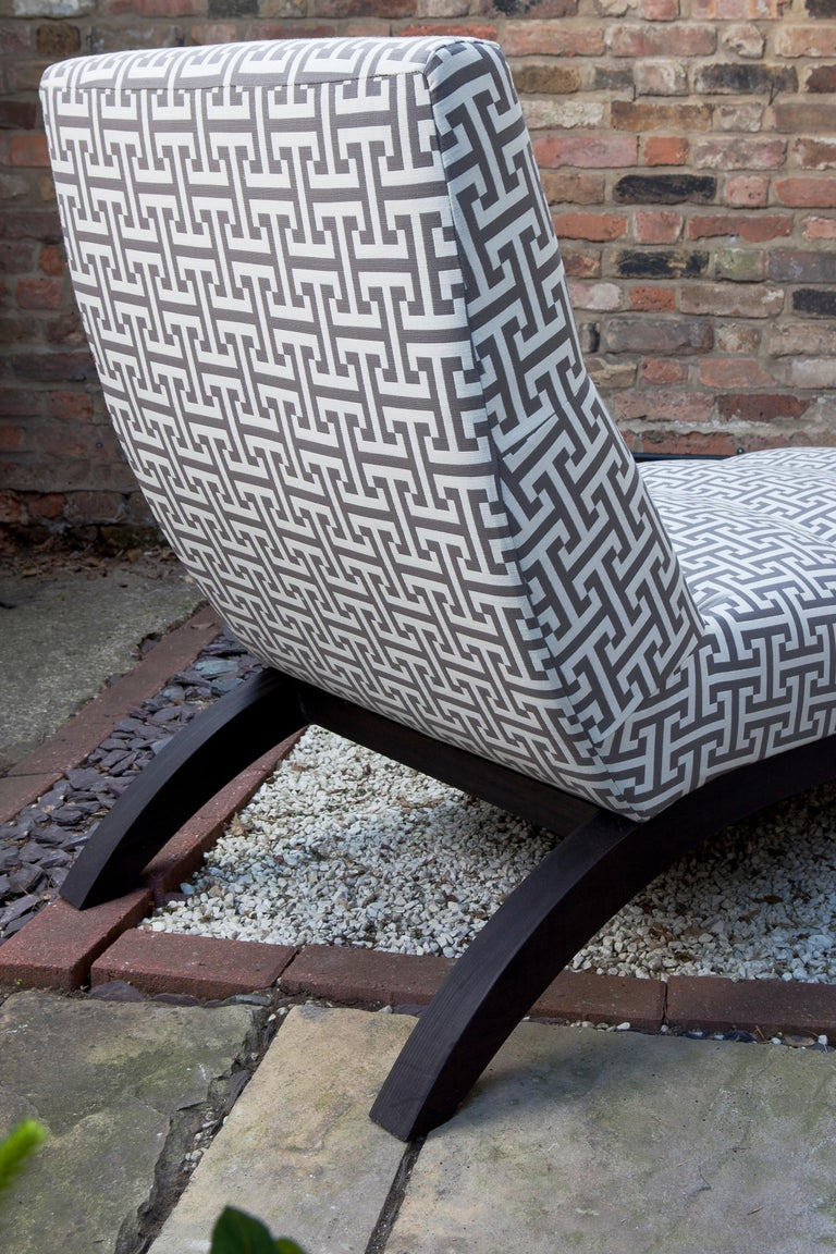 Contemporary Outdoor Rosemount Lounger by Coco Wolf For Sale