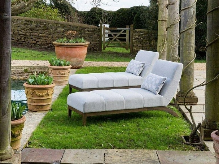 Outdoor Rosemount Lounger by Coco Wolf For Sale 1