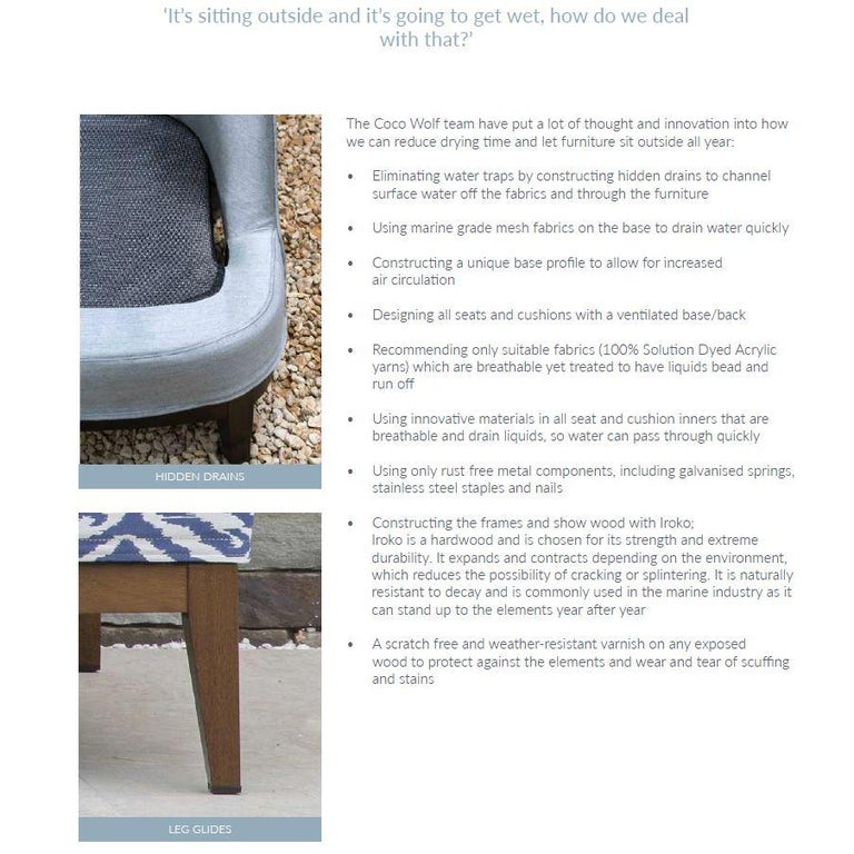 English Outdoor Sammarco Bar Stool by Coco Wolf For Sale