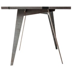 Outdoor Table in Lava Stone and Steel, Venturae v2, Filodifumo, Black Enamel