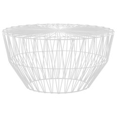 Outdoor Table Ottoman, the Drum Table by Bend Goods, White
