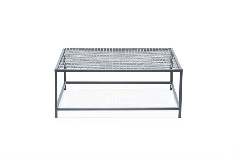 Modern Outdoor Charcoal Coffee Table For Sale