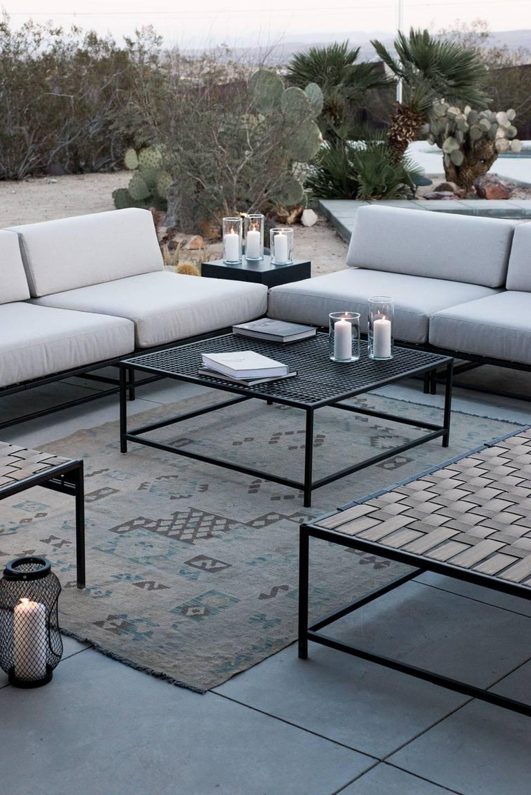 Outdoor Charcoal Coffee Table In New Condition For Sale In Los Angeles, CA