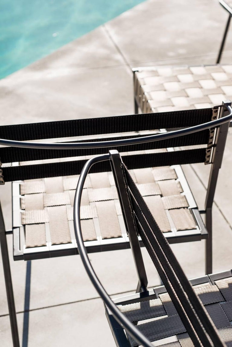 Outdoor Tan and Charcoal Dining Chair For Sale 8