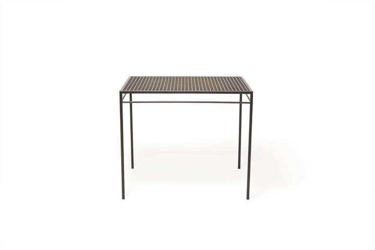 Modern Outdoor Charcoal Dining Table For Sale