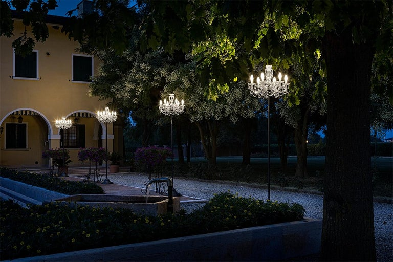 Modern Outdoor Venetian Floor Lamp 6 Lights, Made in Italy For Sale