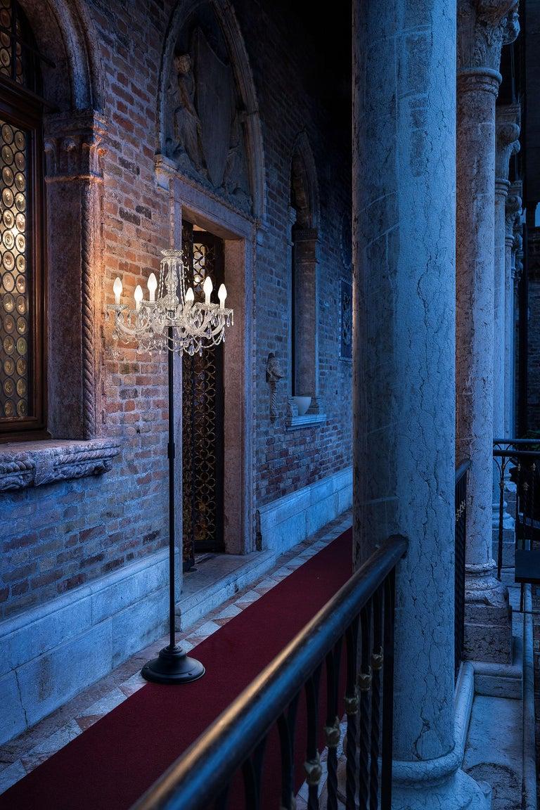 Italian Outdoor Venetian Floor Lamp 6 Lights, Made in Italy For Sale